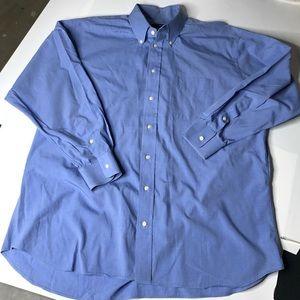 Burberry Blue Men Sz 17.5 33 XL Button Down Shirt